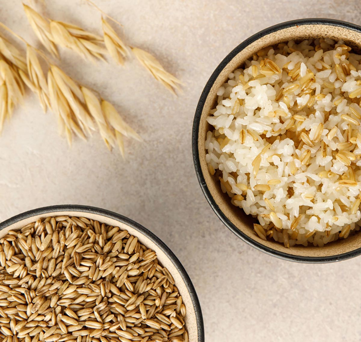 귀리쌀과 귀리밥