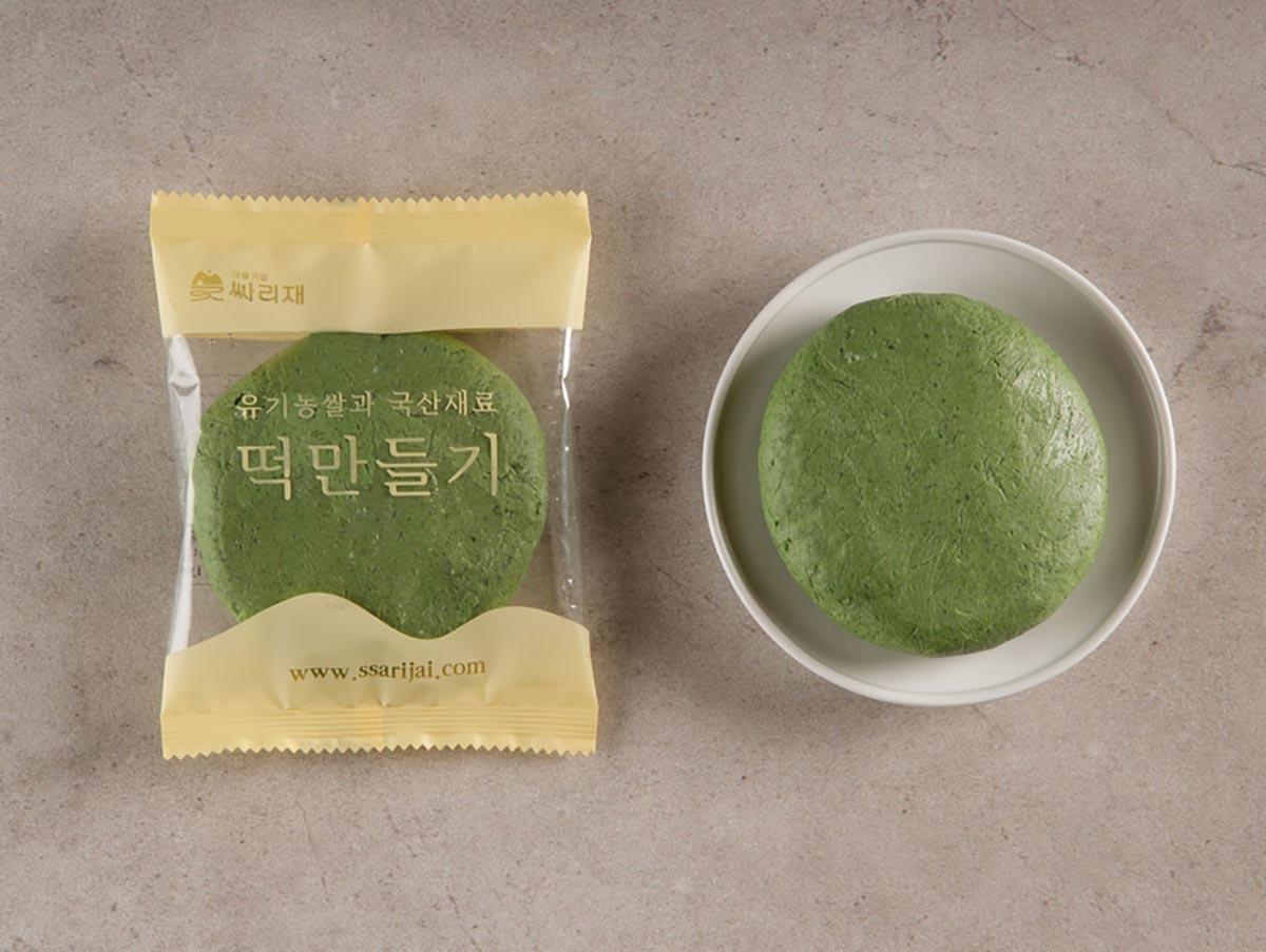 쑥개떡 반죽, 현미떡 반죽
