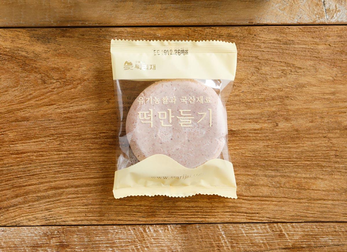 포장된 수수부꾸미 반죽